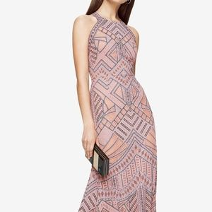 BCBG Felicia Geometric Pink Blush Gown